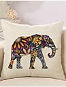 1 Pcs Bohemia Vintage Elephant Pattern Pillow Cover Creative Square Cotton/Linen Pillowcase Home Decor