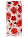 Pour iPhone X iPhone 8 Etuis coque IMD Motif Coque Arriere Coque Brillant Fleur Flexible PUT pour Apple iPhone X iPhone 8 Plus iPhone 8