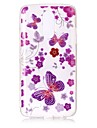 Case For LG K10 (2017) K8 (2017) Case Cover Butterfly Pattern High Permeability TPU Material IMD Technology Flash Powder Phone Case G6