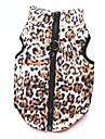 Cat Dog Coat Shirt / T-Shirt Sweatshirt Vest Dog Clothes Leopard Leopard Cotton Costume For Pets Women\'s Party Casual/Daily Keep Warm