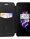 Кейс для Назначение OnePlus Один плюс 3 Бумажник для карт Флип Чехол Сплошной цвет Твердый Кожа PU для One Plus 5 One Plus 3 One Plus 3T