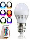 1db 3 W 100 lm E26 / E27 Okos LED izzók 1 LED gyöngyök Integrált LED Távvezérlésű / Dekoratív / Színátmenet RGB 85-265 V / 1 db. / RoHs