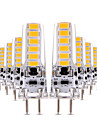 4W LED Bi-pin Lights T 12 leds SMD 5730 Dimmable Decorative Warm White Cold White 300-400lm 2800-3200/6000-6500K AC 12 DC 12-24V