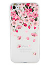 Capinha Para Apple iPhone 7 Plus iPhone 7 Estampada Com Relevo Capa traseira Flor Macia TPU para iPhone 7 Plus iPhone 7 iPhone 6s Plus
