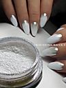 1g/Bottle Hot Fashion Gorgeous Silver Magic Mirror Effect Pigment Nail Art Glitter Powder Manicure DIY Beauty Dust Shiny  Chrome Powder Decorations 4#