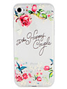 Case  for Apple iPhone 7 Plus 7 Cover Embossed Pattern Back Cover Case Word  Phrase Flower Soft TPU 6s Plus  6 Plus 6 6s 5 5s