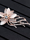 Women\'s Brooches Synthetic Opal Flower Style Flowers Floral Alloy Flower Animal Shape Jewelry For Wedding Party Special Occasion