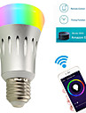 7w e27 led ampoules intelligentes fonctionne avec amazon alexa a60 22 smd 2835 600 lm rgb blanc 3000/6000/5000 k wifi ac85-265v
