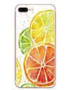 Etui pour Apple iphone 7 7 plus couverture de boitier motif orange hd peint materiel tpu etui souple pour iphone 6s 6 plus