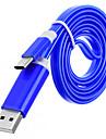 USB 3.1 타입 C 케이블, USB 3.1 타입 C to USB 2.0 케이블 Male - Male 니켈 도금 강 1.0M (3 피트) 480 Mbps