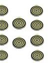 10 шт. 3W 500lm GU10 Точечное LED освещение 48 Светодиодные бусины SMD 2835 Декоративная Тёплый белый Холодный белый 12V