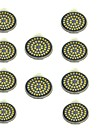 10pcs 3W 500lm GU10 Spot LED 48 Perles LED SMD 2835 Decorative Blanc Chaud Blanc Froid 12V