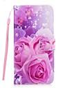 Кейс для Назначение SSamsung Galaxy S7 edge S7 Бумажник для карт Кошелек со стендом Флип Чехол Цветы Твердый Искусственная кожа для S8