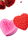Love Heart Rose silicone mold cake decorating tools Bake Cake Chocolate Jelly Handmade Soap DIY Silica Gel kitchen accessories