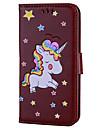 Etui pour samsung galaxy s8 s8 plus casquette unicorn pattern pu materiel avec sangle telephone cas pour samsung s7 s7 bord s6 s6 bord s5
