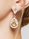 Women\'s Drop Earrings Earrings Fashion Elegant Bridal Adorable Costume Jewelry Zircon Imitation Diamond Alloy Drop Jewelry For Wedding
