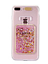 Capinha Para Apple iPhone 8 iPhone 8 Plus Liquido Flutuante Luz de LED Estampada Capa traseira Glitter Brilhante Macia TPU para iPhone 8
