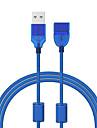 Cwxuan USB 2.0 Удлинитель, USB 2.0 to USB 2.0 Удлинитель Male - Female 1.2m (4FT) 480 Мб/сек.