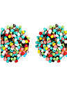 Women\'s Geometric / Beads Stud Earrings - Vintage, Bohemian, Fashion Dark Blue / Light Red / Green For Party / Daily / Casual