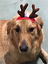 Собака Аксессуары для создания прически Одежда для собак Плюшевая ткань Зима Рождество Северный олень Красный Костюм Для домашних животных