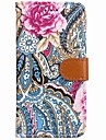 Pour iPhone X iPhone 8 iPhone 8 Plus Etuis coque Portefeuille Porte Carte Avec Support Clapet Motif Magnetique Coque Integrale Coque Fleur