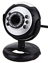 webcam camera pc avec port usb support reglable support integre du microphone controle du volume lumiere led