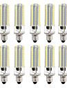 BRELONG® 10 stuks 8W 700lm LED-maislampen 152 LED-kralen SMD 3014 Dimbaar Warm wit Wit 220V 110V