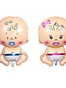 2pcs / set 75 * 45cm большой младенец picifier фольги воздушные шары украшение шариков