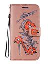 For Case Cover Card Holder Wallet with Stand Flip Pattern Full Body Case Flower Glitter Shine Hard PU Leather for LG LG K10 LG K8 (2017)