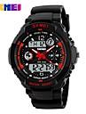 SKMEI Муж. Спортивные часы электронные часы Модные часы Наручные часы Цифровой PU Группа Черный
