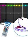 2m usb led strip light impermeable a l\'eau smd5050 rgb led strip flexible led lights 44keys remote tv background lighting dc5v