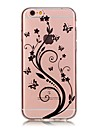 For iPhone 7 iPhone 7 Plus Case Cover Ultra-thin Transparent Pattern Back Cover Case Butterfly Flower Soft TPU for Apple iPhone 7 Plus