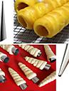 Pratico cone forma calor resistivo fabricante de croissant de aco inoxidavel diy tubo espiral danesa tubo inclinado