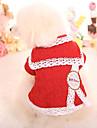 Psy Bluza dresowa Ubrania dla psów Geometryczny Czerwony Różowy Bawełna Kostium Na Wiosna i jesień Zima Codzienne