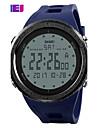 SKMEI 남성용 디지털 디지털 시계 스포츠 시계 캐쥬얼 시계 PU 밴드 참 블랙 블루 그린 그레이