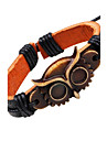 Läder Armband - Läder Uggla Vintage Armband Svart Till Casual / Utekväll