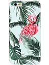 Pour iPhone X iPhone 8 Etuis coque Motif Coque Arriere Coque Flamant Arbre Flexible PUT pour Apple iPhone X iPhone 8 Plus iPhone 8 iPhone