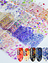 16 pcs Fashion Pattern / Accessories / Lace Sticker Daily / 3D Nail Stickers