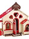 Puzzles 3D Puzzles en bois Maquettes de Bois Kit de Maquette Niches Mode Maison Classique Mode Design nouveau Enfants A Faire Soi-Meme