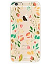 Coque Pour iPhone X iPhone 8 Ultrafine Transparente Motif Coque Arriere Arbre Fleur Flexible TPU pour iPhone X iPhone 8 Plus iPhone 8