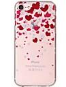 케이스 제품 iPhone X iPhone 8 울트라 씬 투명 패턴 뒷면 커버 심장 꽃장식 소프트 TPU 용 iPhone X iPhone 8 Plus iPhone 8 아이폰 7 플러스 아이폰 (7) iPhone 6s Plus iPhone 6