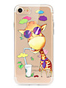 Coque Pour Apple iPhone X iPhone 8 iPhone 8 Plus Ultrafine Transparente Motif Coque Bande dessinee Animal Flexible TPU pour iPhone X