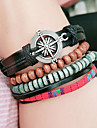 Men\'s Women\'s Wrap Bracelet Multi Layer Vintage Leather Round Jewelry For Casual