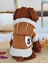 Собака Толстовки Одежда для собак Хлопок Зима На каждый день Мультфильмы Кофейный Розовый Для домашних животных