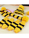 Dog Socks Bandanas & Hats Dog Clothes Stripe Yellow Pink Rainbow Woolen Costume For Pets Keep Warm