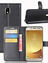 Case For Samsung Galaxy J7 (2017) J3 (2017) Card Holder Wallet Flip Full Body Cases Solid Color Hard PU Leather for J7 (2017) J7 (2016)