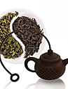 Silicone Tea Bag Tea Pot Shape Filter Infuser Coffee Strainer Accessories Random Color