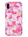 Capinha Para Apple iPhone X iPhone 8 Brilha no Escuro Estampada Com Relevo Capa traseira Flamingo Rigida PC para iPhone X iPhone 8 Plus