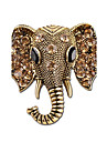 Women\'s Brooches - Rhinestone Elephant Simple, Vintage Brooch Gold / Silver For Casual / Going out
