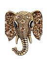 Mulheres Broches - Strass Elefante Simples, Vintage Broche Dourado / Prata Para Casual / Para Noite